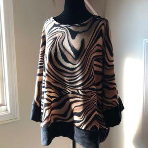 Kaktus animal print blouse NWT XL